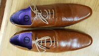 MENS BROWN LEATHER SHOES SIZE UK9 / EU 43