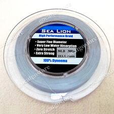 NEW Sea Lion 100% Dyneema Spectra Braid Fishing Line 300M 30lb Grey