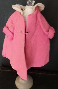 PINK! Vintage/ANTIQUE COAT Jacket for COMPOSITION Hard PLASTIC or BISQUE DOLLS
