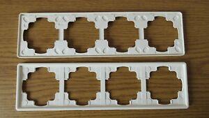 Gira S-Color Reinweiß Rahmen 4-fach ( 21440 ) gebraucht Guter Zustand
