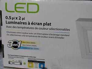 """Feit 6"""". x 2 ft. 12.5-W Dimmable White LED Edge-Lit Flat Panel Flush Mount Light"""