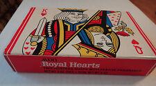 Avon Royal Hearts King Queen 2 3oz Soaps Festive Fragrance Playing Cards NIB