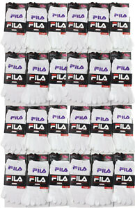 Fila Skeletoes Kids Unisex High Performance Toe Socks 24 Pairs Lot White