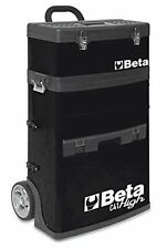 Beta Tools C41H BLACK Mobile Tool Trolley, 3 Slide Out Drawers and Removable Top