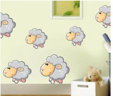Cute Sheep Wall Stickers Farm Animal Decoration For Children Kid Room 43cmX45cm