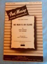 1952 No Man is an Island Sheet Music Choral Arrangement for Mixed Chorus
