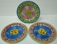Sango Watercolors Salad Dessert Plates 2 Apricot Jam 1 Blueberry Sky Sue Zipkin