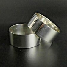 More details for a pair of elizabeth ii sterling silver napkin rings birm/sheff 1973 - 60 grams