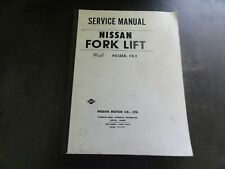 Nissan FG135B FG2 Forklift Service Book Manual