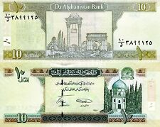 AFGHANISTAN 10 Afghanis Banknote World Paper Money UNC Currency Pick p-67A Bill