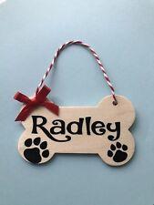 Árbol de Navidad Decoración de hueso de perro personalizado Casa De Mascotas