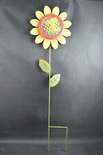 "21""H Sunflower Yellows 2 Dimensional Petal Moving Flower Garden metal stake #93"