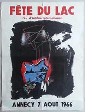 Fête du lac Annecy 1966, 1991, 1998, 2001  4 affiches originales/vintage posters