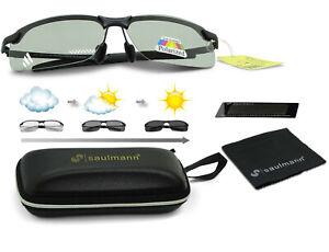 Saulmann® SM7875 Polarisierte Photochromatische TAC selbsttönende Sonnenbrille🅖