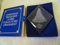 1983 CHRISTMAS TREASURES COLLECTOR'S ORNAMENT-ACRYLIC-TREE-IN ORIG. BOX-NOS