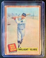 1962 Topps #141 BABE RUTH Special Twilight Years New York Yankees Hall of Fame