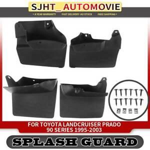 4x Splash Guards Mud Flaps fit Toyota Land Cruiser Prado KZJ90 W/o Fender Flares