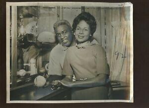 Original Jan 23 1962 Jackie & Rachel Robinson Hall of Fame Ind 8 X 10 Wire Photo