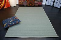 nr 2088 handgewebter Teppich Kelim Kilim aus Wolle ca 180 x 123 cm Grau Grün Neu