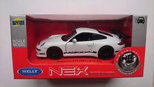 WELLY PORSCHE 911 (997) GT3 RS WHITE 1:34 DIE CAST METAL MODEL NEW IN BOX