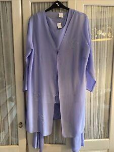 ladies 3 piece trouser suit Size 20-22