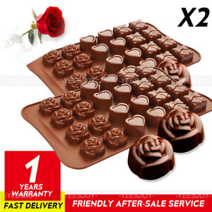 2 Pack Silicone Chocolate/Cake Mould Decorating Baking Cookies Mould Wax Melt