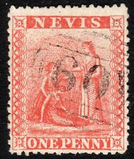 St Kitts-Nevis 1871 deep-red 1d perf 15 used SG16