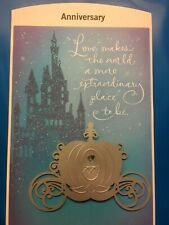 "Love Anniversary Card Disney ""Cinderella"" Friends Husband Wife So Hallmark 78-O"