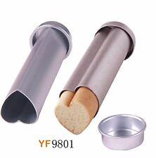 Small Size Heart Shape Aluminium Alloy Moldes Toast metal Bread Box Mold Mould