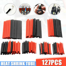 127Pcs Black&Red Weatherproof Heat Shrink Sleeving Tubing Tube Assortment Kit
