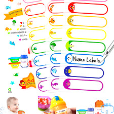 Baby Bottle Labels For Daycare Self Laminating Waterproof Write On Name Lab