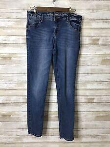 Justice Premium Simply Low Super Skinny Slim Jeans Girls Size 16 1/2 Medium Wash