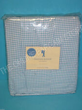 Pottery Barn Kids Pbk Gingham Check Bed Skirt Dust Ruffle Twin Blue