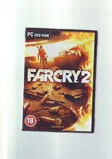 FAR CRY 2 - PC GAME - FAST POST - ORIGINAL & COMPLETE WITH MANUAL & MAP - VGC