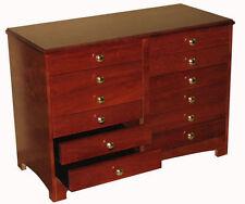 Sheet Music Cabinet 12 Drawer Black Ebony Piano Organ Instrument Music Storage