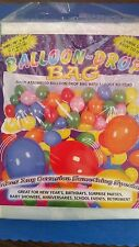 BALLOON-DROP BAG W/ 12 FOOT RIP CORD ( 100 BALLOONS )BIRTHDAYS/SCHOOL EVENTS/NYE