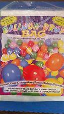 (100 BALLOONS) BALLOON-DROP BAG W/ 12 FOOT RIP CORD BIRTHDAYS/SCHOOL EVENTS/NYE