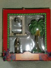 Mervyn's California Mission Accessory Set Padre, Bell On Post, Coconut Tree