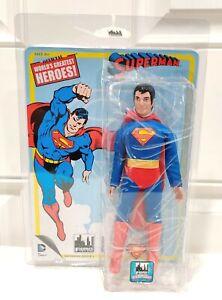 "2014 Figures Toy Co. Retro Mego Greatest Heroes Series 1 SUPERMAN 8"" Figure MINT"