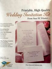 AMPAD White Pearl Floral Border 25 PACK PRINT YOUR OWN WEDDING INVITATIONS NEW