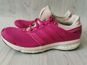 WOMENS LADIES ADIDAS SUPERNOVA GLIDE BOOST RUNNING SHOES TRAINERS PINK UK 7.5