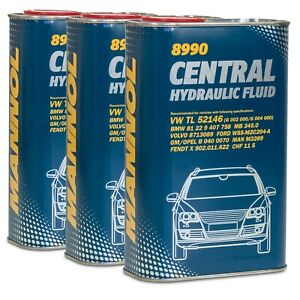 Hydrauliköl MANNOL Central Hydraulic Fluid 3 x 1 Liter Servoöl VW Audi BMW Ford