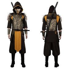 Mortal Kombat Hanzo Hasashi/Scorpion Cosplay Costume Outfits
