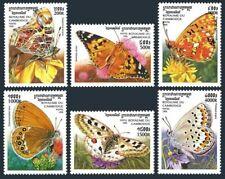 Cambodia 1825-1830,1831 sheet,MNH. Butterflies,1999