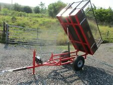 More details for 1 ton sch tipping trailer manual hydraulic lever 6 x 3 lawn tractor garden quad