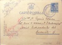ROUMANIE / ROMANIA 1942 (May) Censored Military Postal Card from APO N°66
