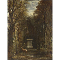 John Constable Cenotaph To The Memory Sir Joshua Reynolds Large Canvas Art Print