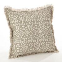 Naxos Collection Geometric Design Down Filled Cotton Throw Slate