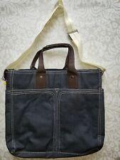 "New Denim Tote Bag Bath & Body Works Shopping  lap top diaper Bag 19""W"
