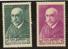 FRANCIA Yvert 377/377a** Mnh  Efigie de Charcot  Serie completa 1938/1939  NL471